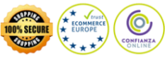 Garantia 100%. SSL encryption. Ecommerce Europe.